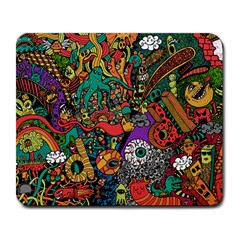 Monsters Colorful Doodle Large Mousepads