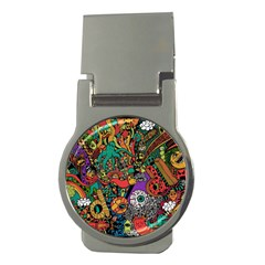 Monsters Colorful Doodle Money Clips (round)
