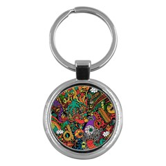 Monsters Colorful Doodle Key Chains (round)
