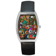 Monsters Colorful Doodle Barrel Style Metal Watch