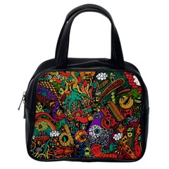 Monsters Colorful Doodle Classic Handbags (One Side)