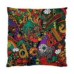 Monsters Colorful Doodle Standard Cushion Case (One Side)