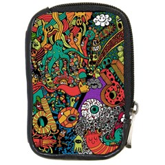 Monsters Colorful Doodle Compact Camera Cases