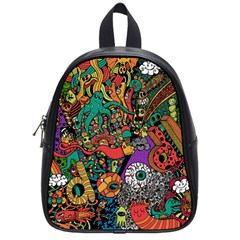 Monsters Colorful Doodle School Bags (Small)