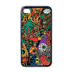 Monsters Colorful Doodle Apple Iphone 4 Case (black)