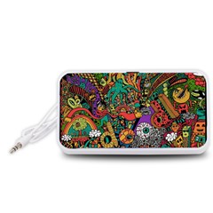 Monsters Colorful Doodle Portable Speaker (White)