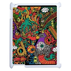 Monsters Colorful Doodle Apple iPad 2 Case (White)