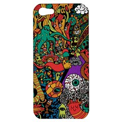 Monsters Colorful Doodle Apple Iphone 5 Hardshell Case