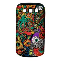 Monsters Colorful Doodle Samsung Galaxy S Iii Classic Hardshell Case (pc+silicone)