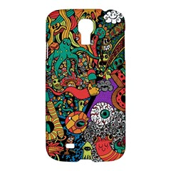 Monsters Colorful Doodle Samsung Galaxy S4 I9500/i9505 Hardshell Case