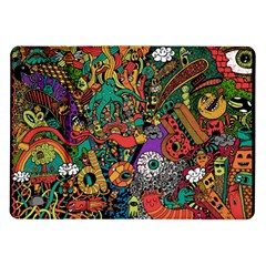 Monsters Colorful Doodle Samsung Galaxy Tab 10 1  P7500 Flip Case