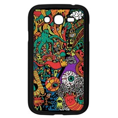 Monsters Colorful Doodle Samsung Galaxy Grand Duos I9082 Case (black)