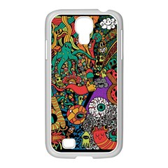 Monsters Colorful Doodle Samsung Galaxy S4 I9500/ I9505 Case (white)