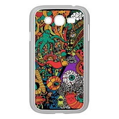 Monsters Colorful Doodle Samsung Galaxy Grand Duos I9082 Case (white)