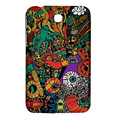Monsters Colorful Doodle Samsung Galaxy Tab 3 (7 ) P3200 Hardshell Case