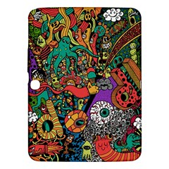 Monsters Colorful Doodle Samsung Galaxy Tab 3 (10 1 ) P5200 Hardshell Case