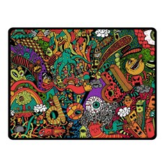 Monsters Colorful Doodle Double Sided Fleece Blanket (small)