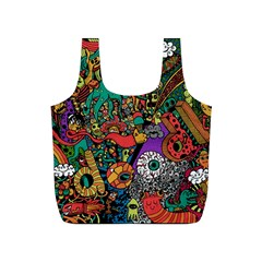 Monsters Colorful Doodle Full Print Recycle Bags (S)