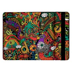 Monsters Colorful Doodle Samsung Galaxy Tab Pro 12 2  Flip Case
