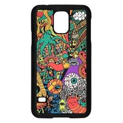 Monsters Colorful Doodle Samsung Galaxy S5 Case (black)