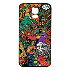 Monsters Colorful Doodle Samsung Galaxy S5 Back Case (white)