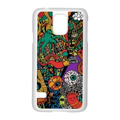 Monsters Colorful Doodle Samsung Galaxy S5 Case (White)