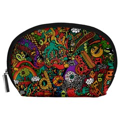 Monsters Colorful Doodle Accessory Pouches (large)