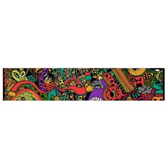 Monsters Colorful Doodle Flano Scarf (small)