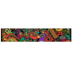 Monsters Colorful Doodle Flano Scarf (Large)