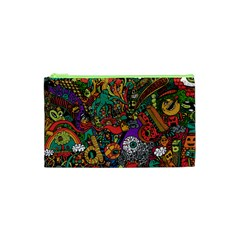 Monsters Colorful Doodle Cosmetic Bag (xs)