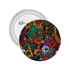 Monsters Colorful Doodle 2 25  Buttons