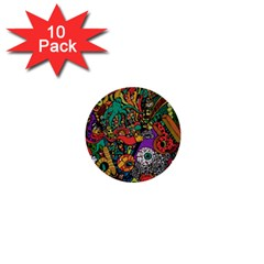 Monsters Colorful Doodle 1  Mini Buttons (10 Pack)