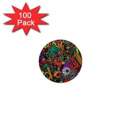 Monsters Colorful Doodle 1  Mini Magnets (100 Pack)