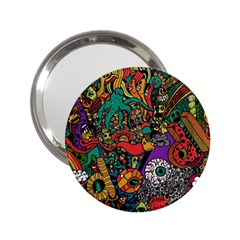 Monsters Colorful Doodle 2.25  Handbag Mirrors