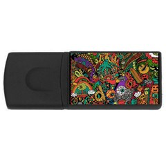 Monsters Colorful Doodle USB Flash Drive Rectangular (2 GB)
