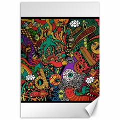 Monsters Colorful Doodle Canvas 12  X 18