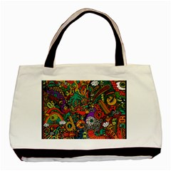 Monsters Colorful Doodle Basic Tote Bag (two Sides)