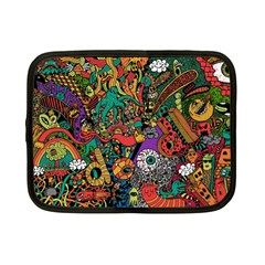 Monsters Colorful Doodle Netbook Case (Small)
