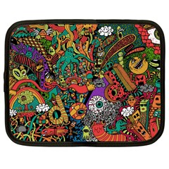 Monsters Colorful Doodle Netbook Case (large)