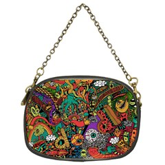 Monsters Colorful Doodle Chain Purses (two Sides)