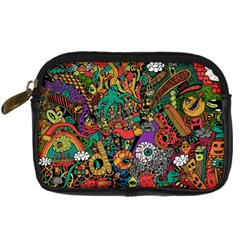 Monsters Colorful Doodle Digital Camera Cases