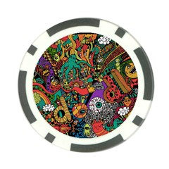 Monsters Colorful Doodle Poker Chip Card Guard (10 pack)