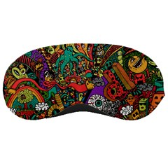 Monsters Colorful Doodle Sleeping Masks