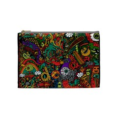 Monsters Colorful Doodle Cosmetic Bag (Medium)