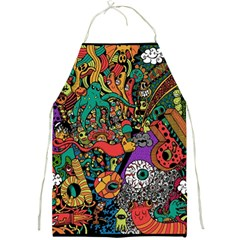 Monsters Colorful Doodle Full Print Aprons