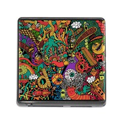 Monsters Colorful Doodle Memory Card Reader (square)