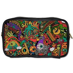 Monsters Colorful Doodle Toiletries Bags 2-Side