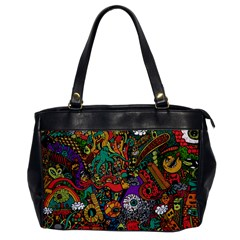 Monsters Colorful Doodle Office Handbags