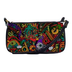 Monsters Colorful Doodle Shoulder Clutch Bags