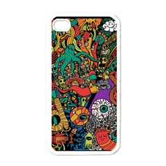Monsters Colorful Doodle Apple Iphone 4 Case (white)